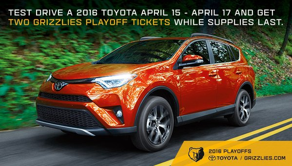 Toyota Drives Grizzlies Fans To Playoff Games Trak Partnership