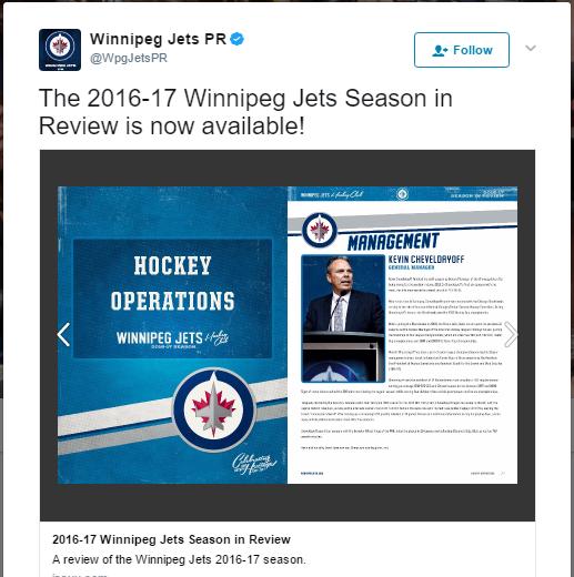 Winnipeg Jets Pr On Twitter The 2016 17 Winnipeg Jets Season In Review Is Now Available Https T Co 9 R8F S1 Cxe6 1
