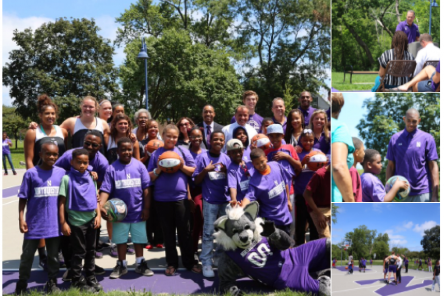 Nu Men S Basketball On Twitter Honored To Join The Cityof Evanston Northwestern U And Dynegy At The Unveiling Of The Renovated Twiggs Park Court  Cats Give Back B1 Gcats Https T Co I3Auk Fq2 Qt
