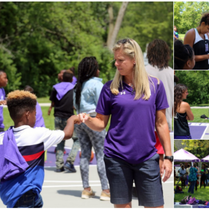 Nu Women S Hoops On Twitter Giving Back To The Community Is What It S All About  The B1 Gcats Unveiled The Renovated Cityof Evanston Twiggs Park Court Today Https T Co Ec Xzc Wmn Ey